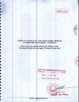 Báo cáo tài chính năm 2015 (đã kiểm toán) - CTCP Tư vấn công nghệ, thiết bị và kiểm định xây dựng - CONINCO
