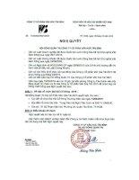 Nghị quyết Hội đồng Quản trị - Công ty Cổ phần Văn hóa Tân Bình