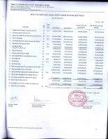 Báo cáo KQKD hợp nhất quý 3 năm 2011 - Công ty Cổ phần Đầu tư Xây dựng Bình Chánh