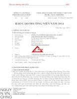 Báo cáo thường niên năm 2014 - Công ty cổ phần Khoáng sản Á Châu