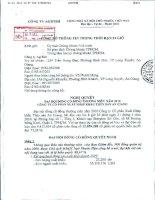 Nghị quyết Đại hội cổ đông thường niên năm 2010 - Công ty Cổ phần Xuất nhập khẩu Thủy sản An Giang