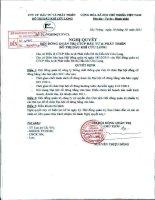 Nghị quyết Hội đồng Quản trị ngày 18-10-2011 - Công ty cổ phần Đầu tư và Phát triển Đô thị Dầu khí Cửu Long