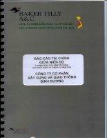Báo cáo tài chính quý 2 năm 2014 (đã soát xét) - Công ty Cổ phần Xây dựng và Giao thông Bình Dương