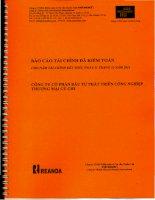 Báo cáo tài chính công ty mẹ năm 2011 (đã kiểm toán) - Công ty Cổ phần Đầu tư Phát triển Công nghiệp - Thương mại Củ Chi