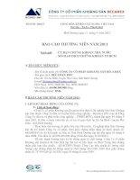 Báo cáo thường niên năm 2011 - Công ty Cổ phần Khoáng sản Becamex