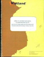 Báo cáo tài chính công ty mẹ năm 2014 (đã kiểm toán) - Công ty Cổ phần Xây dựng và Kinh doanh Vật tư