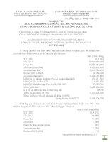 Nghị quyết đại hội cổ đông ngày 05-05-2011 - Công ty Cổ phần Sách và Thiết bị trường học Đà Nẵng