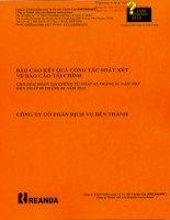 Báo cáo tài chính quý 2 năm 2013 (đã soát xét) - Công ty Cổ phần Dịch vụ Bến Thành