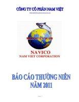 Báo cáo thường niên năm 2011 - Công ty Cổ phần Nam Việt
