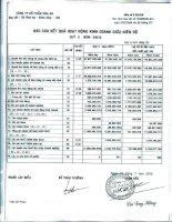 Báo cáo KQKD quý 2 năm 2013 - Công ty Cổ phần Hóa An