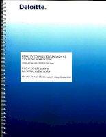 Báo cáo tài chính năm 2012 (đã kiểm toán) - Công ty Cổ phần Khoáng sản và Xây dựng Bình Dương