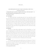 GIẢI PHÁP KINH TẾ CHO VẤN ĐỀ NUÔI TRỒNG THUỶ SẢN Ở TỈNH AN GIANG