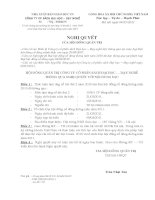 Nghị quyết Hội đồng Quản trị ngày 09-03-2011 - Công ty Cổ phần Sách Đại học - Dạy nghề