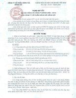 Nghị quyết Đại hội cổ đông thường niên năm 2013 - Công ty Cổ phần Hàng hải Đông Đô