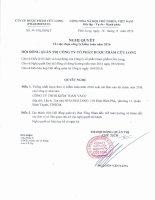 Nghị quyết Hội đồng Quản trị - Công ty Cổ phần Dược phẩm Cửu Long