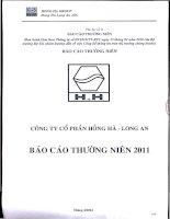 Báo cáo thường niên năm 2011 - Công ty Cổ phần Hồng Hà Long An