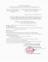 Nghị quyết Hội đồng Quản trị - Công ty Cổ phần Đầu tư Du lịch và Phát triển Thủy sản