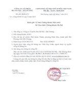 Báo cáo tài chính quý 2 năm 2015 - Công ty Cổ phần Bia Hà Nội - Hải Dương