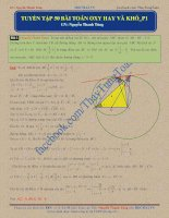 Tuyển tập 50 bài toán Oxy hay và khó ( Luyện thi THPT quốc gia môn Toán )