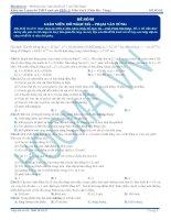 Bộ đề luyện thi THPT quốc gia môn Vật lý ( Khóa luyện đề Pen I  Thầy Đỗ Ngọc Hà )
