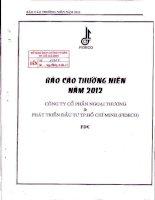Báo cáo thường niên năm 2012 - Công ty Cổ phần Ngoại thương và Phát triển Đầu tư Thành phố Hồ Chí Minh