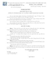 Nghị quyết Hội đồng Quản trị ngày 29-07-2011 - Công ty Cổ phần Đầu tư và Phát triển giáo dục Hà Nội