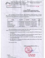 Báo cáo tài chính quý 3 năm 2012 - Công ty Cổ phần Xi Măng Hà Tiên 1