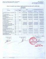 Báo cáo tài chính quý 2 năm 2012 - Công ty Cổ phần Bia Hà Nội - Hải Dương
