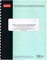 Báo cáo tài chính hợp nhất quý 2 năm 2015 (đã soát xét) - Công ty Cổ phần Sản xuất Kinh doanh Xuất nhập khẩu Bình Thạnh