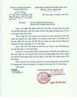 Báo cáo tài chính hợp nhất quý 4 năm 2015 - Công ty Cổ phần Tập đoàn Dabaco Việt Nam