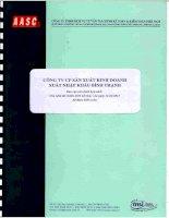Báo cáo tài chính hợp nhất năm 2015 (đã kiểm toán) - Công ty Cổ phần Sản xuất Kinh doanh Xuất nhập khẩu Bình Thạnh