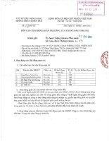 Báo cáo tình hình quản trị công ty - Công ty Cổ phần Xây dựng Giao thông Thừa Thiên Huế