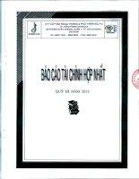 Báo cáo tài chính hợp nhất quý 3 năm 2012 - Công ty Cổ phần Ngoại thương và Phát triển Đầu tư Thành phố Hồ Chí Minh