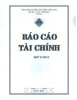 Báo cáo tài chính quý 1 năm 2013 - Công ty Cổ phần Đầu tư Xây dựng Hồng Phát