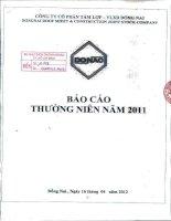 Báo cáo thường niên năm 2011 - Công ty Cổ phần Tấm lợp Vật liệu xây dựng Đồng Nai