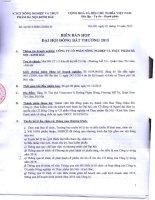 Nghị quyết Đại hội cổ đông bất thường - Công ty Cổ phần Nông nghiệp và Thực phẩm Hà Nội - Kinh Bắc