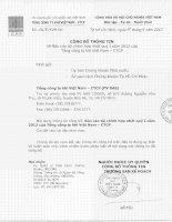 Báo cáo tài chính hợp nhất quý 1 năm 2012 - Tổng Công ty Khí Việt Nam-CTCP