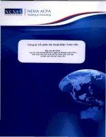 Báo cáo tài chính công ty mẹ quý 2 năm 2012 (đã soát xét) - Công ty cổ phần Kỹ thuật điện Toàn Cầu