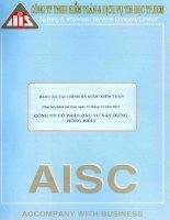 Báo cáo tài chính năm 2011 (đã kiểm toán) - Công ty Cổ phần Đầu tư Xây dựng Hồng Phát