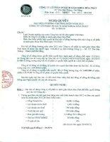 Nghị quyết Đại hội cổ đông thường niên năm 2013 - Công ty Cổ phần In Sách giáo khoa Hoà Phát