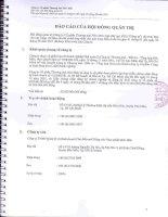 Báo cáo tài chính hợp nhất quý 2 năm 2011 (đã soát xét) - Công ty Cổ phần Thương mại Hóc Môn