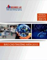 Báo cáo thường niên năm 2015 - Công ty Cổ phần Phát triển Hạ tầng Kỹ thuật