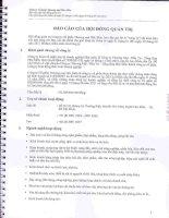 Báo cáo tài chính công ty mẹ quý 2 năm 2011 (đã soát xét) - Công ty Cổ phần Thương mại Hóc Môn