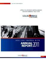 Báo cáo thường niên năm 2011 - Công ty Cổ phần Chứng khoán Golden Bridge Việt Nam