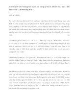 Bài tập nhóm luật Thương mại: Giải quyết tình huống liên quan tới công ty TNHH