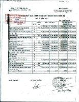 Báo cáo KQKD quý 2 năm 2011 - Công ty Cổ phần Hóa An