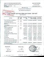 Báo cáo KQKD hợp nhất quý 4 năm 2011 - Công ty Cổ phần Đầu tư và Phát triển KSH