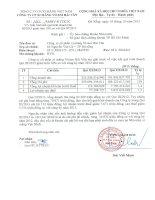 Báo cáo tài chính quý 3 năm 2013 - Công ty Cổ phần Xi măng Vicem Hải Vân