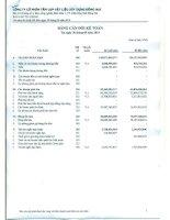 Báo cáo tài chính quý 3 năm 2014 - Công ty Cổ phần Tấm lợp Vật liệu xây dựng Đồng Nai
