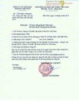 Báo cáo tài chính hợp nhất quý 2 năm 2015 (đã soát xét) - Công ty Cổ phần Tập đoàn Dabaco Việt Nam